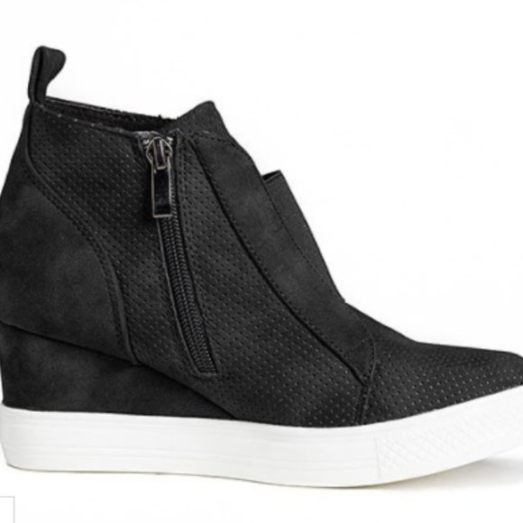 CCOCCI Shoes   Black Zoey Wedge Sneaker